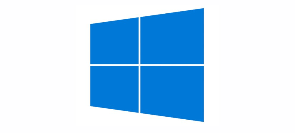An image depicting the new windows 10 logo, shown in a sky blue color.